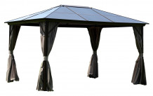 Varikatus SUNSET 3x3m beež, alumiiniumraam, polükarbonaatkatus, polüesterkangas