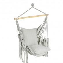 Šūpuļkrēsls LAZY GREY 130x127cm,audums: 100% kokvilna, krāsa: pelēks 20640 HOME4YOU
