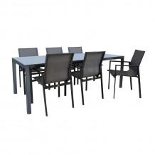 Dārza mēbeļu komplekts AMALFI galds un 6 krēsli K14532 HOME4YOU