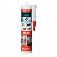 Karstumizturīgs silikons Silicone Ht sarkans 280ml 1591380 BISON