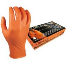 Nitrila cimdi M-Safe (50gab) bez talka 11/XXL oranži Grippaz