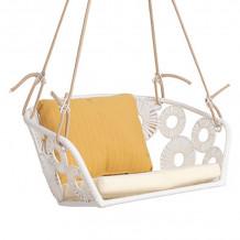Piekaramais krēsls RONDO 45x75x63cm, balts 28088 HOME4YOU