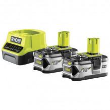Akumulatori + lādētājs 18V 2x 4.0Ah RC18120-240 RYOBI