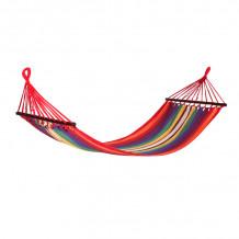 Võrkkiik RIINA 200x80cm, materjal: puuvill, värv: punane triibuline 12958 HOME4YOU