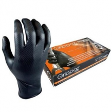 Nitrila cimdi M-Safe (50gab.) bez talka, 10/XL melni Grippaz