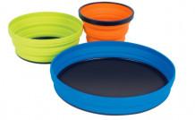Nõudekomplekt X-Set: 2-tk (X-tops, X-kauss ja hoiukott), oranž/laimTO  AXSET2 SEA TO SUMMIT