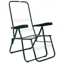 Guļamkrēsls BADEN-BADEN rāmis 46x155cm, salokāms, metāla rāmis, zaļš 019510 HOME4YOU