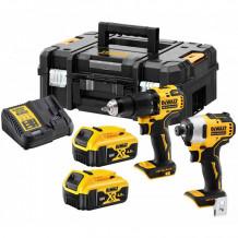 2 tööriista komplekt 18V, DCD709 ja DCF809 DCK2062M2T-QW DeWALT