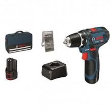 Akumulatora skrūvgriezis GSR 12V-15, BG 2x2.0, 25 ACC, 12V-20 060186810H Bosch