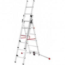 Kāpnes kombinējamās S100 Hailo ProfiLOT / alumīnija / 2x9+1x