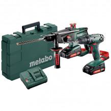 18V tööriistakomplekt: akutrell BS 18 + akukombivasar KHA 18 LTX 685083000 & MET Metabo
