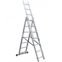 Kāpnes 3x11 pakāpieni, alumīnija, 7.8m BESK