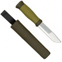 Нож 2000, зеленый, лезвие 109x2.5мм Mora