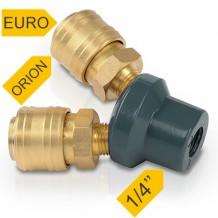 """Kolmeosaline pistik EURO, ORION - 1/4 """"Powerplus"""