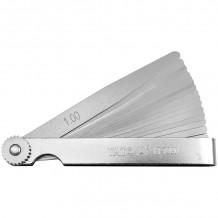 Vārstu spraugu mērītājs 100x10mm, 0.02-1.00mm (17gab.) YATO