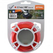Aukla trimmerim Ø 2.7mm (9.8m), apaļa, sarkana STIHL