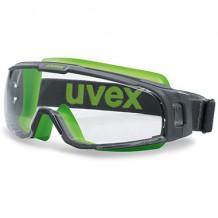 Kaitseprillid U-Sonic, läbipaistvad klaasid, hall / roheline Uvex