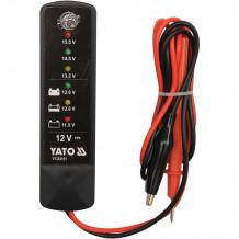 Aku tester 12V, 150-1400A YATO