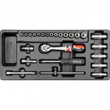 """Tööriistakomplekt 1/4 """"(25 tk) tööriistakapi YATO jaoks"""