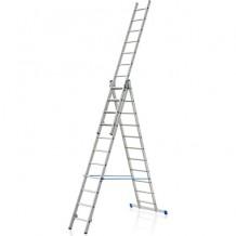 Kāpnes VHR PRO 3x13 pakāpieni, alumīnija, 8.2m ELKOP