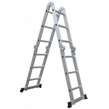 Kāpnes 3x4 pakāpieni, alumīnija, 3.7m BESK