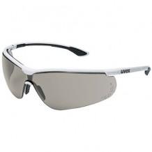Sportstyle kaitseprillid, hallid prillid, valged / mustad UVEX