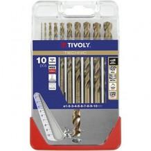 Puurikomplekt metallile HSCOB Ø1-10mm (10tk.) TIVOLY
