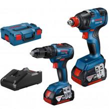 Tööriistakomplekt GDX 18V-200 GSB 18V-55 LB, 2x4.0Ah, 18V-40 06019J2202 Bosch