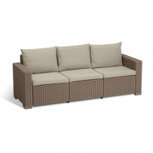 Dārza dīvāns trīsvietīgs California 3 Seater Sofa 29196779587 KETER