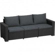 Dārza dīvāns trīsvietīgs Moorea 3 Seater Sofa pelēks, 29196778939, KETER