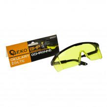 Aizsargbrilles, vaļējas, dzelteni stikli Geko