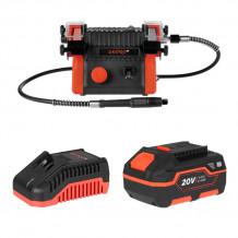 Akumulatora divu ripu slīpmašīna DBG-200-140A DNIPRO-M