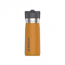 Termos The IceFlow Flip Straw Water Bottle GoGo 0.65L oranž