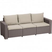 Dārza dīvāns trīsvietīgs Moorea 3 Seater Sofa 29196778587 KETER