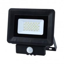 LED prožektor 20W, sulab. andur, 4000K IP65