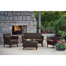 Dārza dīvāns divvietīgs Salemo 2 Seater Sofa bēšs