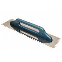 Hambulise äärega kellu, roostevaba teras, puidust käepide, 6x6 hammast, 130x480mm