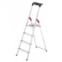 Kāpnes mājsaimniecības L60 StandardLine / alumīnija / 4 pakā