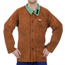 Metināšanas ādas jaka Lava Brown ™ M