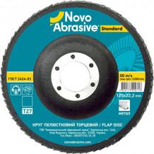 Slīpējamais disks lapiņu 125mm G80 Taisns NOVOABRASIVE