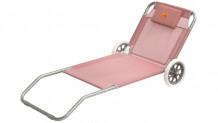 Pludmales gulta ar riteņiem rozā Pier Coral Red 420045 EASY CAMP