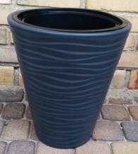 Puķu pods SAHARA 35cm 21L,  melns, 4343532, FORM PLASTIC
