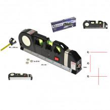Multifunktsionaalne laserlood 190mm koos mõõdulindiga Geko