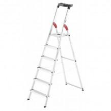 Kāpnes mājsaimniecības L60 StandardLine / alumīnija / 6 pakāpieni 038160607 HAILO