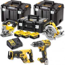 4 tööriista komplekt 18V, DCD791, DCS331, DCS570, DCS367