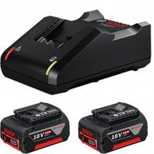 Akumulators+lādētājs GBA18V 2x4Ah GAL18V-40 1600A019S0 BOSCH