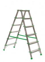 Divpusējās mājsaimniecības kāpnes 2x4 pakāpieni 000288 CITS