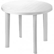 Ümmargune laud Tondo 90cm valge, plastik