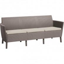 Dārza dīvāns trīsvietīgs Salemo 3 Seater Sofa bēšs 29209039587 KETER