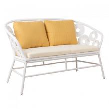 Dārza dīvāns RONDO 129x68H80cm, balts